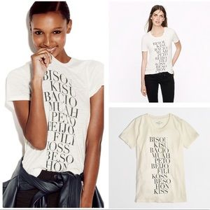 J.Crew Factory Ivory Kisses Collector Tees Medium
